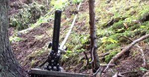 Hydraulischer Widder im Wald