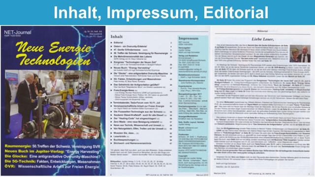 NET-Journal Inhalt Impressum Editorial