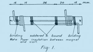 Coler Magnetstromapparat Magnetkern mit Wicklung