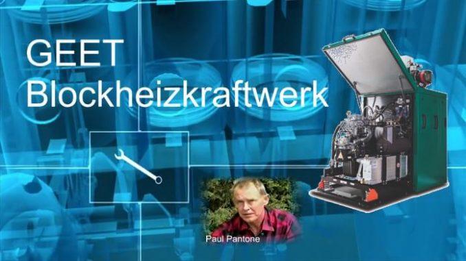 4-Zylinder GEET-Technik Blockheizkraftwerk läuft mit Altöl Benzin und Wasser