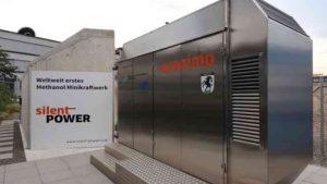 weltweit erstes Methanol Minikraftwerk von Silentpower