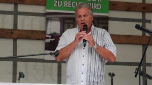 Horst Kirsten - Kundgebung auf dem Marienplatz in München