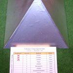 Plexiglaspyramide erste Aluschicht aussen (Schicht2)