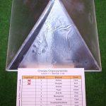 Plexiglaspyramide erste Aluschicht innen (Schicht0)