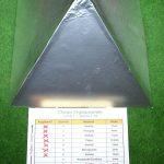 Plexiglaspyramide nächste Schicht - Alufolie (Schicht6)