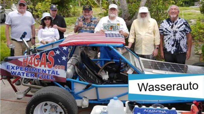 Ulf Dahlström und Stanley Meyer mit dem Wasserauto