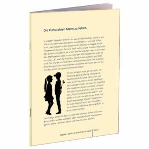 Die Kunst einen Mann zu lieben Broschüre